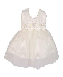 Kiwi Halter Neck Party Dress With Rosette - White