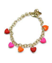 Asthetika Heart Shape Tassel Chain Bracelet - Multicolour