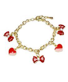Asthetika Multi Tassel Attached Bracelet - Red