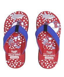 Hello Kitty by Cute Walk Flip Flops - Red