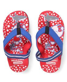 Hello Kitty by Cute Walk Flip Flops With Back Strap - Red