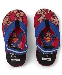 Superman by Cute Walk Flip Flops - Black