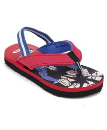Superman by Cute Walk Flip Flops - Red