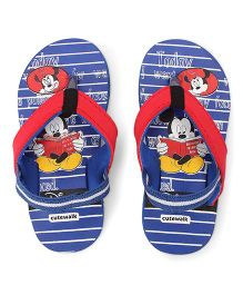 Disney by Cute Walk Flip Flops With Back Strap Mickey Print - Royal Blue