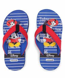 Disney by Cute Walk Flip Flops Mickey Print - Royal Blue