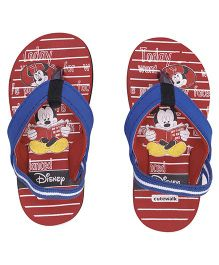 Disney by Cute Walk Flip Flops With Back Strap Mickey Print - Red