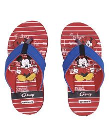 Disney by Cute Walk Flip Flops Mickey Print - Red