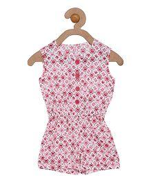 Campana Sleeveless Jumpsuit - Pink White
