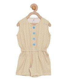 Campana Dot Print Jumpsuit - Yellow & Blue