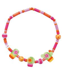 Sevi Wooden Cactus Necklace - Pink