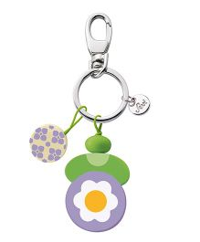 Sevi Wooden Flower Key Chain - Purple Green