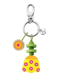 Sevi Wooden Tulip Key Chain - Yellow Green