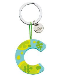 Sevi Wooden C Alphabet Key Chain - Blue Yellow