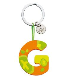 Sevi Wooden G Alphabet Key Chain - Green Orange