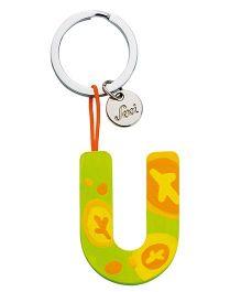 Sevi Wooden U Alphabet Key Chain -  Green Yellow