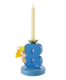 Sevi Wooden 8 Number Happy Birthday Candle - Blue