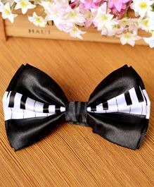 Milonee Piano Printed Bow Tie - Black & White