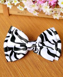 Milonee Gradient Printed Bow Tie - Black & White