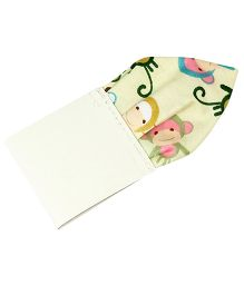 Milonee Monkey Printed Pocket Square - Cream