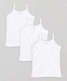 Simply Singlet Slips Plain Pack Of 3 - White