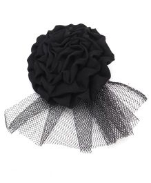 Funkrafts Flower Hair Clip With Net - Black