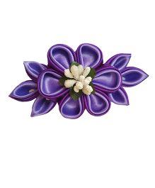 Reyas Accessories Kanzashi Baretter Hair Clip - Violet