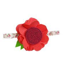 Reyas Accessories Floral Elastic Headband - Red