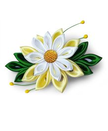 Reyas Accessories Kanzashi Hair Clip - Yellow White & Green