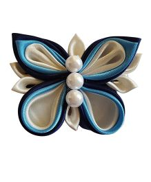 Reyas Accessories Butterfly Hair Clip - Blue & White