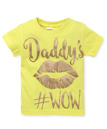 Playbeez Daddy Print Wow Tee - Yellow