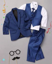 Babyhug 4 Piece Party Wear Suit - Blue