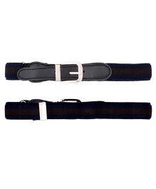 Miss Diva Stretchable Striped Belt - Black & Brown