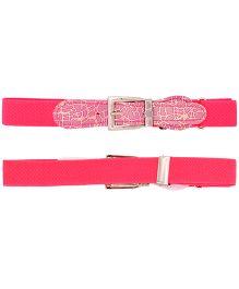 Miss Diva Girls Stretchable Shining Belt - Bright Pink