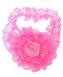 Miss Diva Frill Rose Soft Headband - Magenta
