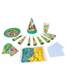 Themez Only Jungle Theme Birthday Party Kit Pack Of 7 - Green