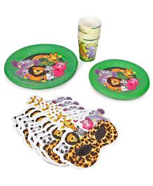 Themez Only Jungle Theme Birthday Party Kit  Pack Of 4 - Green