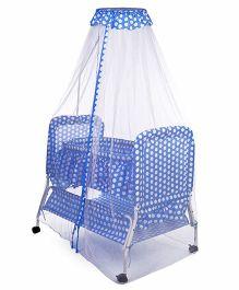Babyhug Sleep In Cradle Polka Dot Print - Blue