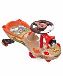 Toyzone Chhota Bheem Classic Magic Twister Car 51336 - Light Brown & Orange