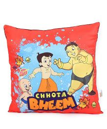 Chhota Bheem Cushion - Red Dark Maroon