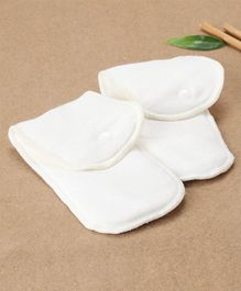 Bumberry Newborn Bamboo Insert Off White - Pack Of 2