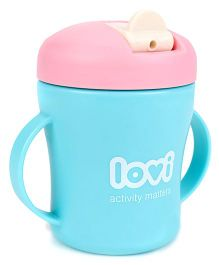 Lovi First Baby Cup Blue & Pink - 200 ml