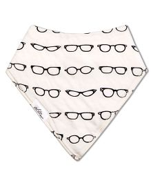 Acute Angle Specks Printed Bib - Black & White