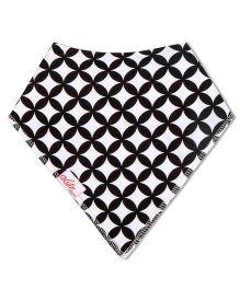 Acute Angle Quirky Printed Bib - Black & White