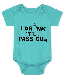 Acute Angle I Drink Till I Pass Out Onesies - Blue