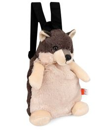 Wild Republic Wolf Backpack Brown & Cream - 34 cm