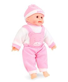 Tickles Laughing Baby Doll Teddy Design Pink And White - Height 34.5 cm