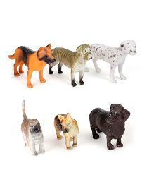Playmate Puppy Figures Multicolour - 6 Pieces