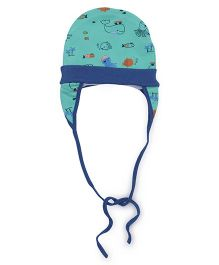 Ben Benny Cover Ear Cap With Fish Print - Green And Blue