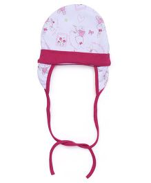 Ben Benny Cover Ear Cap Bunny Print - Pink And White
