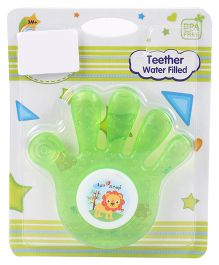 1st Step Water Filled Teether Hand Shape - Green